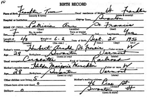 Franklin County Birth Records The Reinvention Of The Alleged Vermont And New Hshire