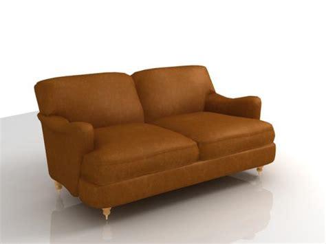 coach sofa leather coach sofa 3d model sharecg