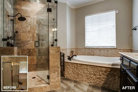 before and after master bathroom remodels home remodeling ideas and inspiration pictures dfw
