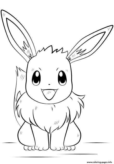 eevee coloring pages to print eevee pokemon coloring pages printable