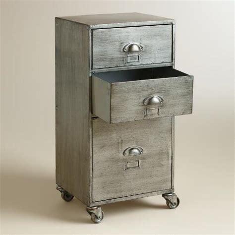 metal 3 drawer jase rolling file cabinet world market