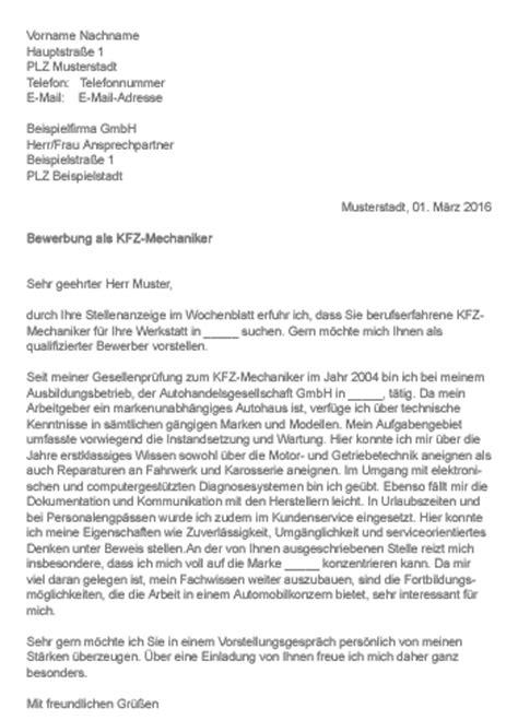 Wochenbericht Praktikum Vorlage Kfz Mechatroniker Muster Gt Bewerbung Als Kfz Mechaniker