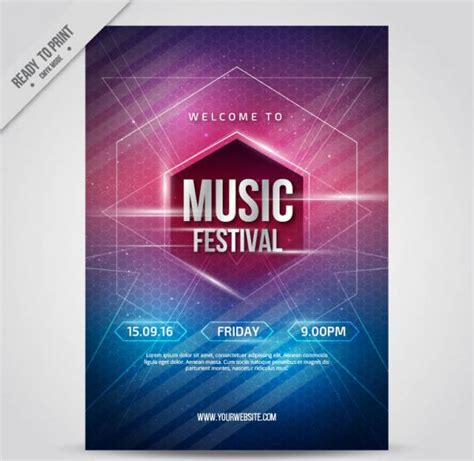 templates for music posters free poster templates 9 free psd vector ai eps format