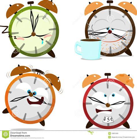 cute cartoon clocks royalty  stock image image