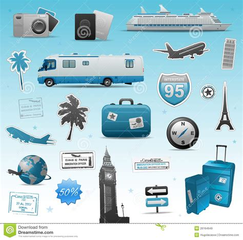 Elements Of My Vacation by Travel Elements Royalty Free Stock Images Image 26164949