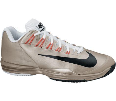 nike lunar ballistec s tennis shoes gold black