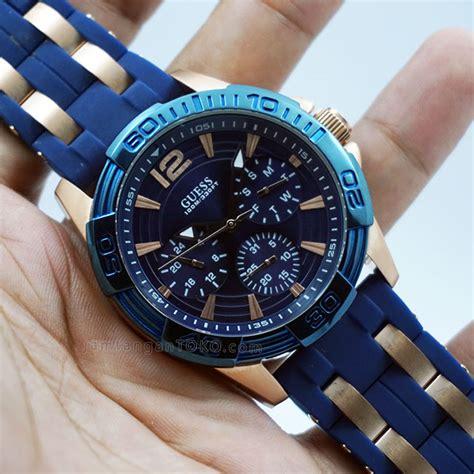 Jam Tangan Wanita Guess Ac Pasir Segi Black Rosegold jam tangan aigner kw jualan jam tangan wanita