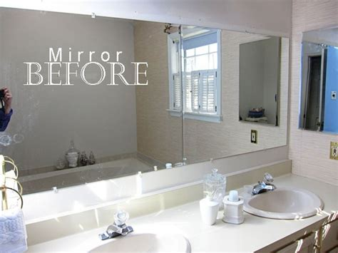 bathroom mirror trim diy projects design pinterest