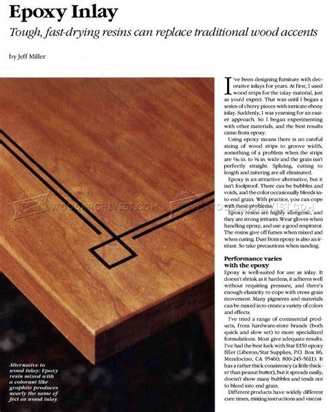 Lathe Table Epoxy Inlay Techniques Woodarchivist