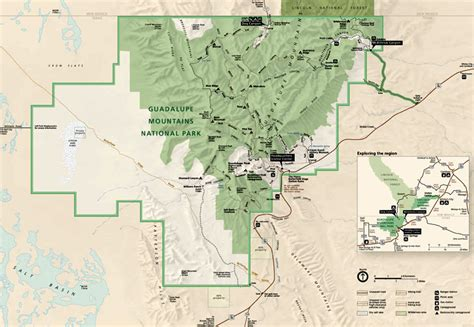 map of national parks in texas guadalupe mountains national park texas national park service