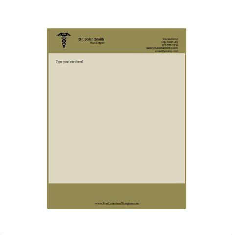 doctor letterhead template 14 free letterhead templates free sle exle