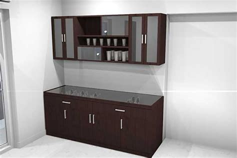Crockery Unit In Mdf And Shutters In High Gloss Acrylic Finish Modern Crockery Units » Home Design 2017