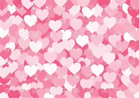 pink wallpaper eps many pink hearts background royalty free vector clip art