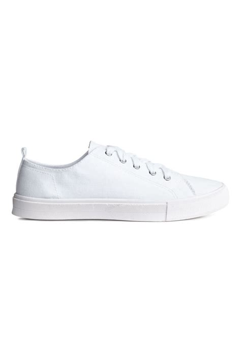 h m sneakers twill sneakers white h m us