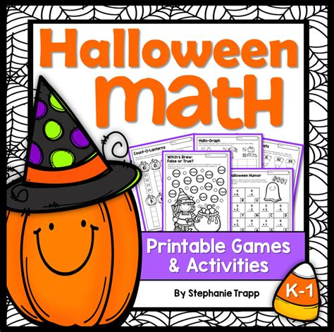 printable math games for kindergarten and first grade halloween math activities primary theme park