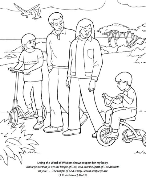 coloring pages respect free lds games color time living the word of wisdom shows