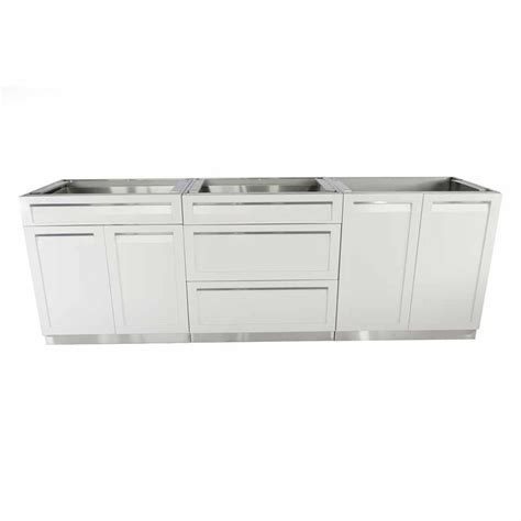 Kitchen Cabinet Sets Home Depot by 4 Outdoor Stainless Steel 3 96x35x22 5 In