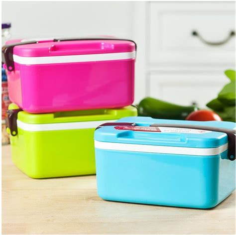 Lunch Cooler Box Terbaru Korean Style food grade pp lunch box korean style solid color fully sealed food deck bento box