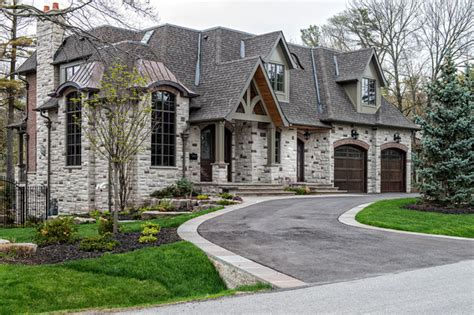 day custom homes custom home builders oakville custom front elevation transitional exterior toronto by