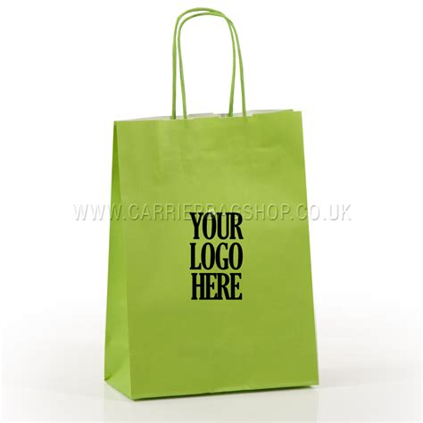 printable paper bags uk printed lime green twist handle paper carrier bags with 1