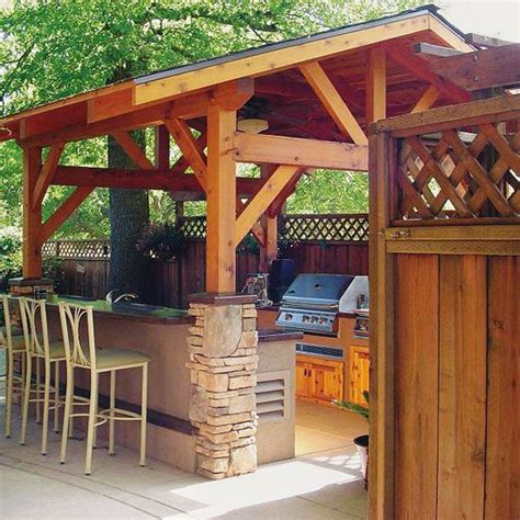 outdoor kitchen ideas shelters backyards and rain