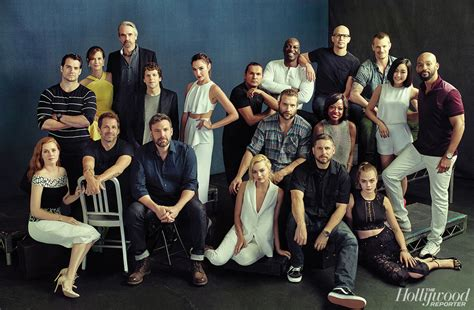Batman V Superman And Suicide Squad Casts Pose Together Cast Of The With The