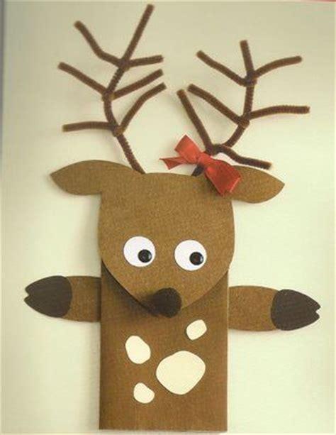 printable reindeer paper puppet reindeer paper bag puppet fun stuff pinterest bags