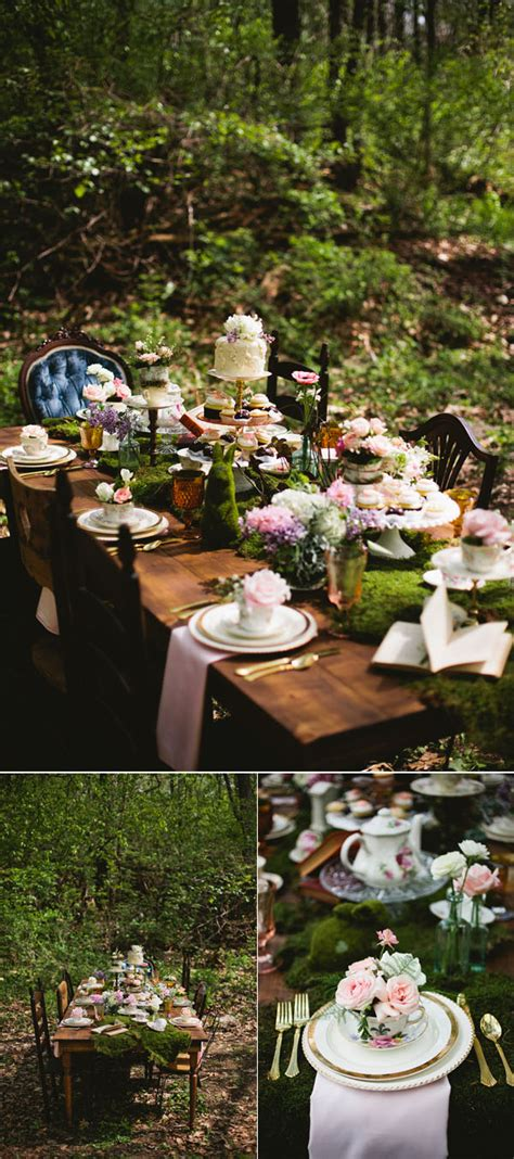 stunning woodland forest wedding reception ideas