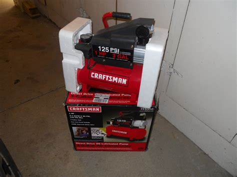 craftsman 3 gallon air compressor craftsman 3 gal air compressor 1 hp horizontal tank 915310