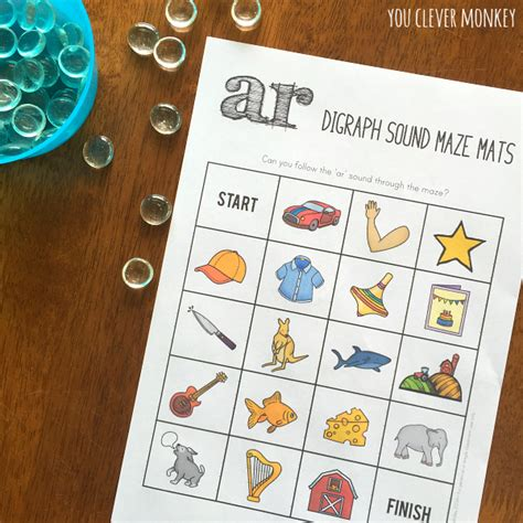 printable games for digraphs digraph sound mazes and i spy games you clever monkey