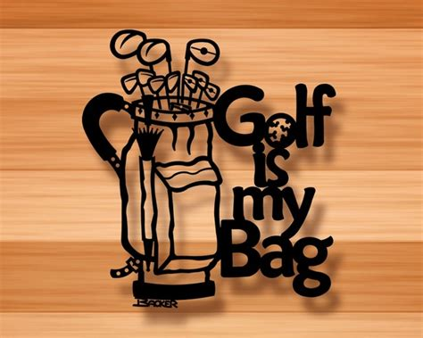 golf is bag wall decor 3d metal wall