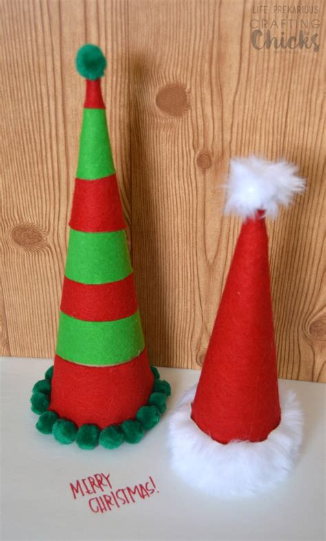 How To Make A Santa Hat Out Of Paper - diy cardboard santa hats the crafting