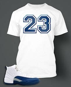 T shirt to match Air Jordan 12 French Blue Shoe on Pro ... Jordan 12 French Blue Shirt