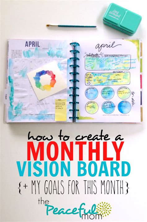 how to create a vision board one that how to create a monthly vision board my goals for april