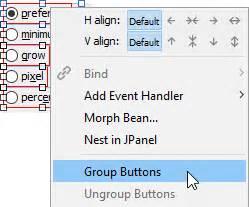 java pattern non capturing group button groups jformdesigner java swing gui designer