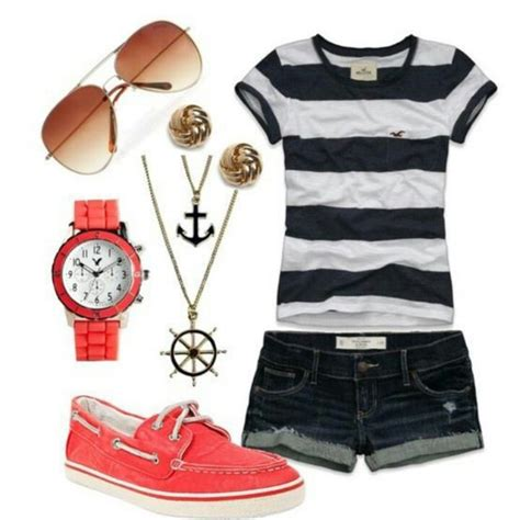 Nautical Themed Clothing Accessories   love the nautical theme clothes shoes and accessories