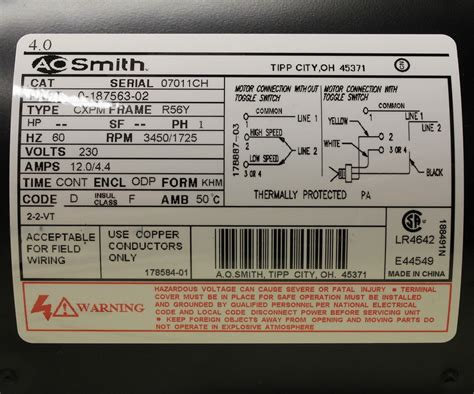 ao smith motors wiring diagram dejual