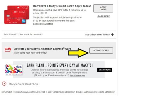 How Do I Activate My Macy S Gift Card - macys com mymacy card infocard co