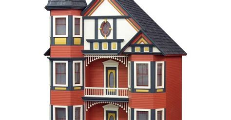 the beautiful doll house was admired by the burnell children real good toys painted lady dollhouse kit 1 inch scale www dollhousesgalore com