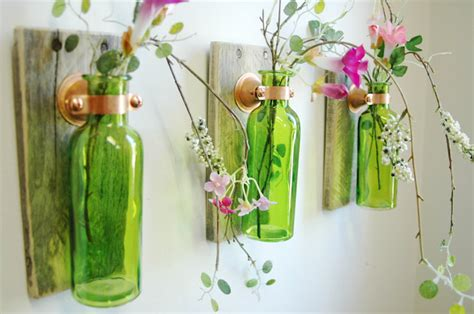 glass bottle craft projects and useful diy recycled glass bottle projects
