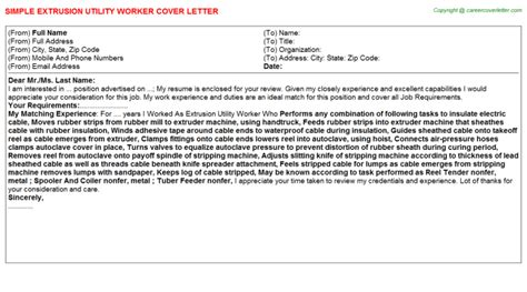 Utility Porter Cover Letter by Utility Porter Cover Letters Sles