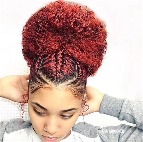 natural hair after five styles beautiful bun kienyabooker https blackhairinformation