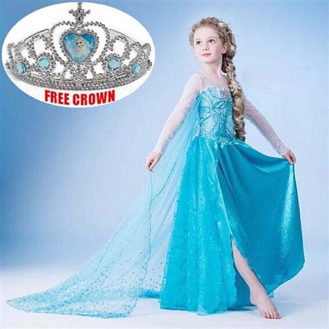 Princess Kostum Elsa Frozen canada disney elsa frozen dress costume princess dresses ebay
