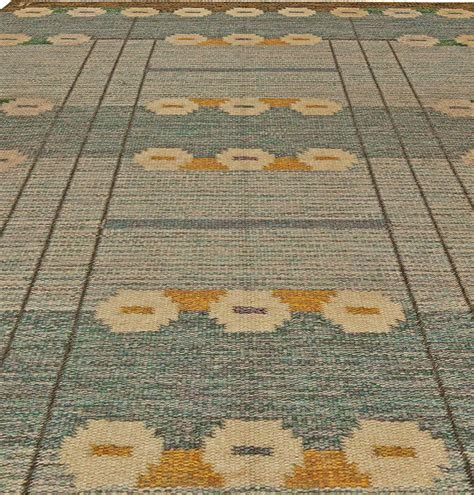 Flat Weave Rugs by Swedish Flat Weave Rug Signed By Ingegerd Silow At 1stdibs