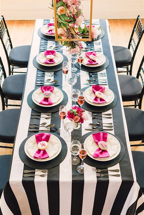 white and black bridal shower ideas black white and pink kate spade bridal shower