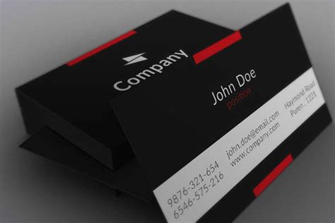 black business card template free business cards psd templates print ready design