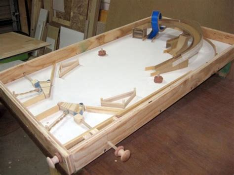 diy wooden games man makes pinball table from scrap wood techcrunch