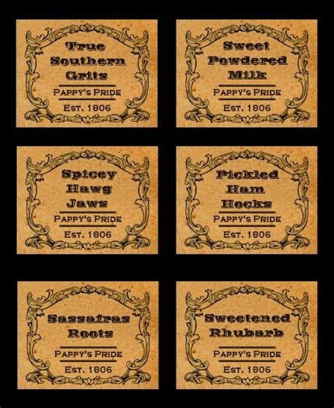 printable primitive labels 40 best images about primitive labels on pinterest