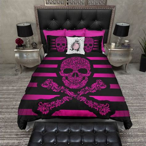 skull bedding king 1000 ideas about hot pink bedding on pinterest pink bedding set pink bedding and