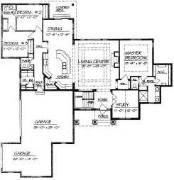 bedroom house plans further split ranch floor together home with open well